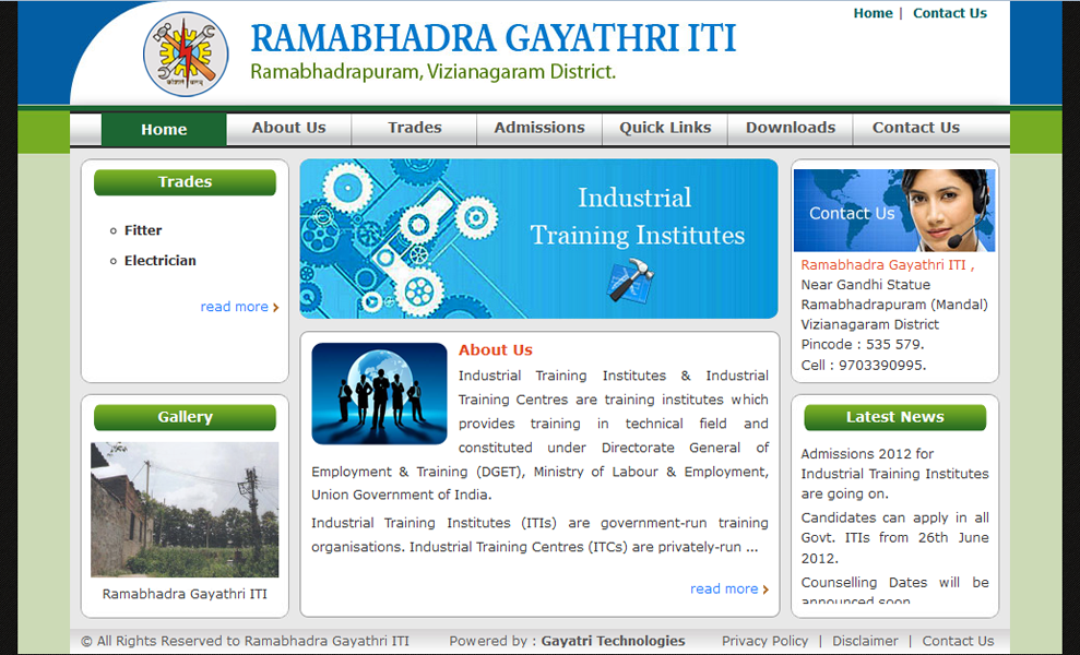 Ramabhadra Gayathri Industrial Training Institute