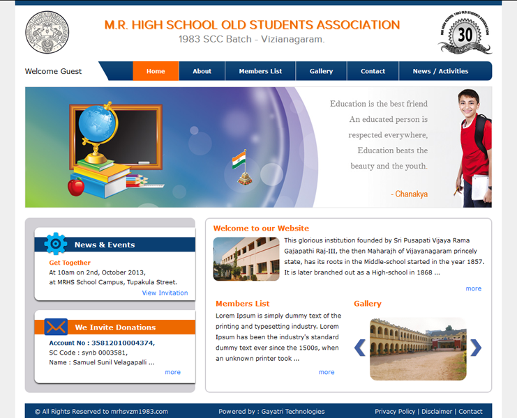 M.R. High School old Students Association